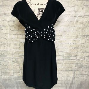 H&M dress with polka dot bow